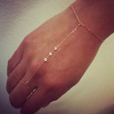 Handkette Kette Armband Ornament Ring Sklavenarmband Silber Vintage Orient WOW