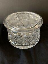 Vintage Pressed Glass Powder Jar