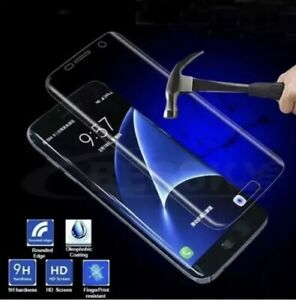 FOR SAMSUNG GALAXY S6 EDGE - CASE FRIENDLY SCREEN TEMPERED GLASS COVER Silver