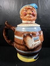 ESD  Japan  Vintage  Teapot  Featuring   Man In Wooden Keg