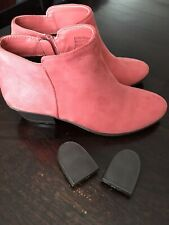 Boston Design Studio Women's Salmon Faux Suede Side Zip Bootie Sz. 8.5W