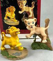 HALLMARK KEEPSAKE ORNAMENT WALT DISNEY'S THE LION KING SIMBA AND NALA VINTAGE