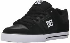 DC Pure Black White Leather Mens Skate Trainers Shoes