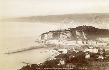 France, Nice, Vue générale prise du Mont-Boron, 1891, vintage albumen print Vint