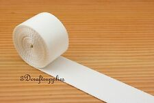 5 yards 2 inch(38mm) heavy weight nylon webbing purse handbag strap white ZC90