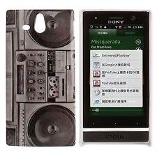 Hardcase für Sony xperia U / St25i Retro Kassetten Rekorder Case Hülle Cover