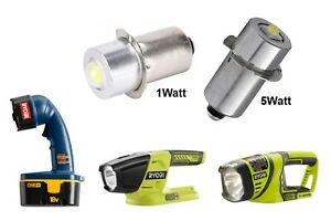 RYOBI ONE+ Plus 18V Flashlight LED Replacement Bulb P13.5S 1 Watt or 5 Watt NEW