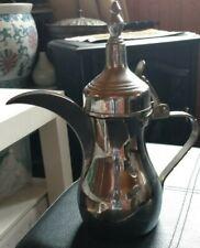 vintage ornamental INDIA Indian tea / coffee pot signed
