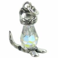 Pussy Cat sterling silver charm .925 x 1 Puss Cats charms