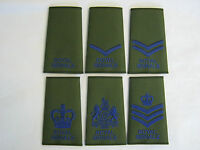 Royal Signals Regiment Rank Slide in Olive - Royal Blue Embroidery - Military
