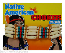 Red Indian Squaw Choker Necklace Pocahontas Cherokee Apache Fancy Dress A