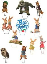 """13 x 2.7"""" Peter Rabbit Anniversaire Comestible stand up Cupcake Toppers * Pre _ Cut *"""