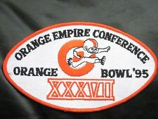 "ORANGE BOWL 95 EMBROIDERED SEW ON PATCH FOOTBALL EMPIRE CONFERENCE 6"" x 3 1/2"""