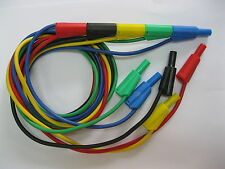25 pcs Safety Protection Banana Plug Silicone Cable High Voltage 5 Color 100cm