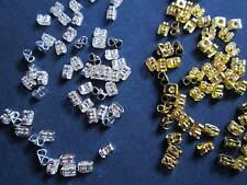 100 earring backs, 50 gold plated & 50 silver plated earnuts, earnut, stoppers