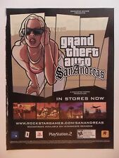 2004 Print Ad Grand Theft Auto San Andreas Video Game ~ Sexy Girl Bend Over