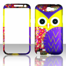 Yellow Owl For Samsung Galaxy Note 2 N7100 Cover Case ;