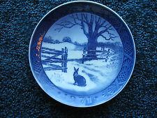 """Royal Copenhagen-1971 Christmas Plate-Hare in Winter-7 1/8"""" diameter-porcelain-"""