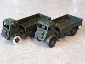 2 Dinky 623 Army Wagons