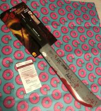 "Ari Lehman Hand Signed & Inscribed Friday the 13th ""Jason"" Toy Machete w/JSA COA"