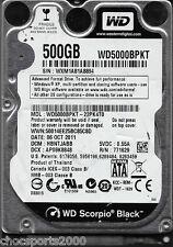 """Western Digital Black WD5000BPKT-22PK4T0 DCM: HBNTJABB 500GB 2.5"""" SATA 7200 RPM"""