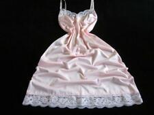 Womens Full Slip 36 +/- Vintage Pink Antron III Nylon Lace Neckline/Hem NEW