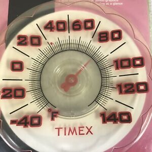 """TIMEX 7"""" Suction Cup Window Thermometer TX1011 - Sealed Package"""