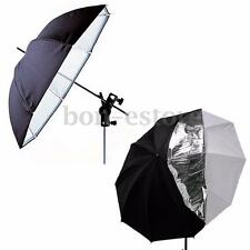 Photography Studio 33''Umbrella Double Layers Reflective Translucent White Black