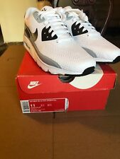 New Nike Air Max 90 Ultra Essential Men Size 11 White Black Wolfgrey