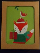 The Gift Wrap Company Fox Recycled Christmas Card