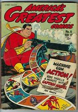 America's Greatest Comics #6 (1943) from Fawcett Publications  with a War Cover