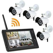 "Wireless 7"" TFT LCD 2.4G 4CH Night Vision Camera Security System Video Monitor"
