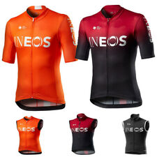 Men INEOS Cycling Jersey Cycling Vest Cycling Short Sleeve Jersey Windproof vest
