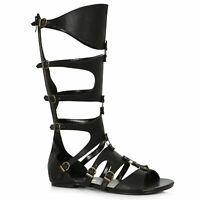 Ellie 031-THEON Men's Gladiator Renaissance Medieval Roman Soldier Flat Sandals