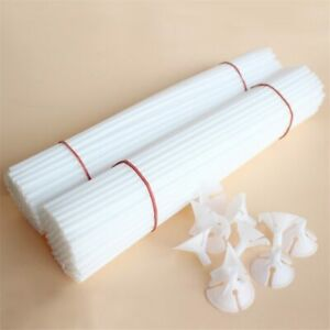 20/50Pcs White Balloon Stick Balloons Holder Sticks with Cup Wedding Party Decor