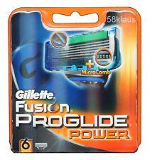6x Gillette Fusion Proglide Power 6er OVP Gillete Gilette Gilete razor blades