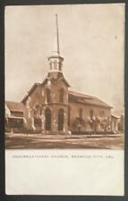 Congregational Church Redwood City Cal 1911 The Polychrome Co