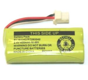 Cordless Phone Battery Pack Replacement 2.4V 400mAh Ni-MH for BT183342 BT283342