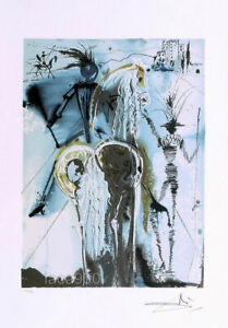 Salvador DALI Don Quixote P/Signed Offset Lithograph 22 x 14-1/2