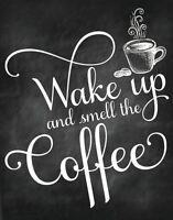 Morning coffee Quote Home decor wall cloth high quality Canvas print art gift