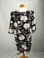 Ladies Dress Size 14 DPs Black Floral Party Wedding Evening