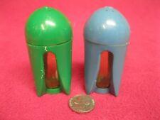 Vintage Burrite Plastic Rocket Salt and Pepper Shakers Burroughs 51