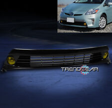2012-2015 TOYOTA PRIUS BUMPER YELLOW FOG LIGHT+GRILLE GRILL W/HARNESS+SWITCH KIT
