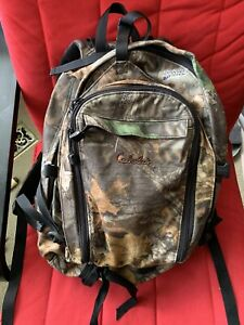 CABELAS Advantage Timber Camo Camouflage Silent Chamois Backpack Pack Hunting
