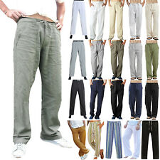 Plus Size Men Casual  Loose Wide Leg Pants Holiday Yoga Gym Long Trousers