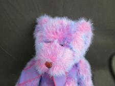 RUSS BERRIE EXPRESSLY FOR TARGET STORE PURPLE RED BEANBAG TEDDY BEAR PLUSH 14""