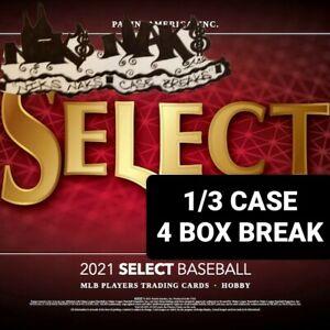 ATLANTA BRAVES 2021 SELECT BASEBALL HOBBY 1/3 CASE 4 BOX BREAK #39