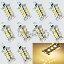 10pcs Warm White G4 18 SMD 5050 LED 3500K 220LM 3W Chip Bright Light Lamp Bulb