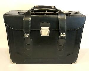VINTAGE Vinyl Black Small Equipment/Camera Case with Pan-Am Flight Tag Clean