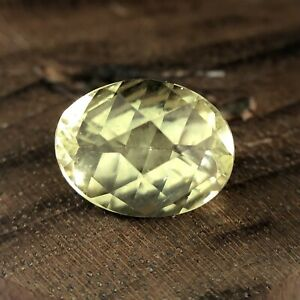 Natural Yellow Heliodor Faceted Loose Gemstone 1.50CTS Gemologist Verified
